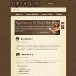 Vintage Brown Black Free Joomla Theme