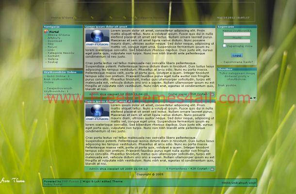 Windows Vista Green Php-fusion Theme Template