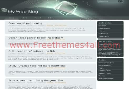 Free WordPress Gray Technology Web2.0 Theme Template