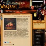 Warcraft Free Blogger Theme