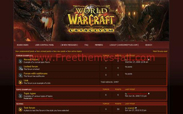 Free phpbb styles freethemes4all free php fusion warcraft red theme maxwellsz