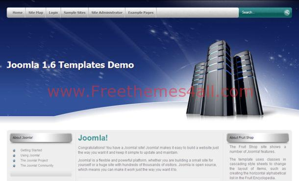 Free Web Hosting Blue Joomla Theme Template