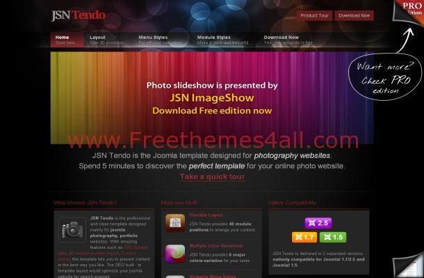 Colorful Business Portfolio Free Joomla Theme Template