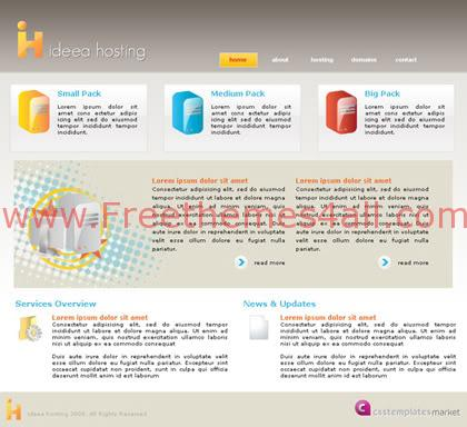 Free CSS Xhtml Web Hosting Company Template