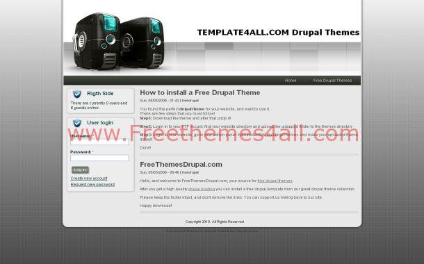 Gray Web Hosting Drupal Theme