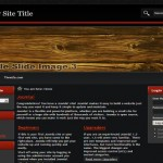 Wooden Red Black Joomla Theme Template
