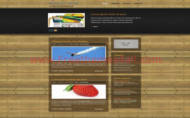 Free Portfolio Wood Jquery CSS Website Template