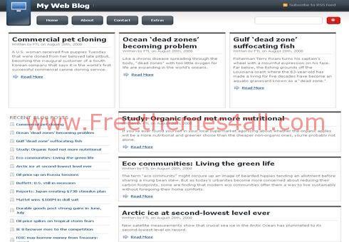 Free WordPress White News Blog Simple Theme Template