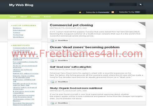 Free WordPress Green Dark Black Web2.0 Theme