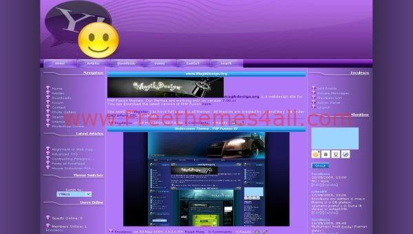 Free php-fusion Yahoo Clone Web2.0 Theme Template