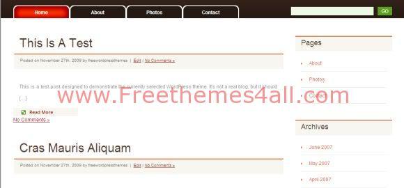 Free WordPress News Blog Theme Template
