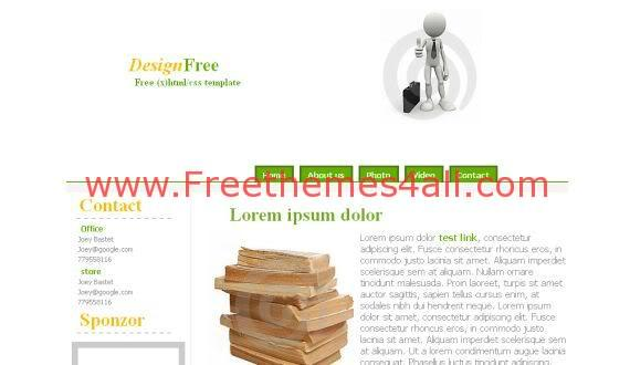 Free CSS Easy Design White Website Template