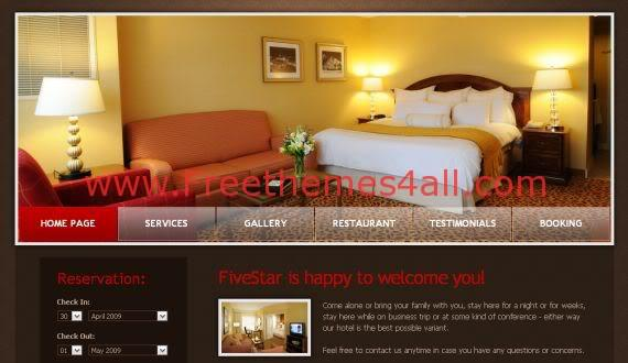 Hotel Brown Red Website Template