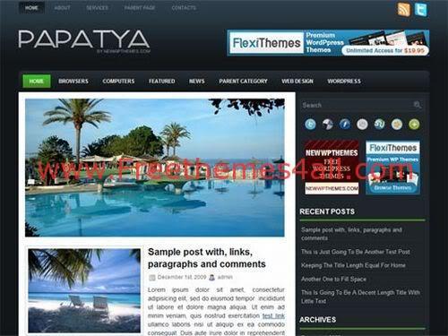 Free Papatya Black Premium WordPress Theme