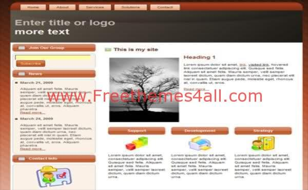 Free Xhtml Brown Arts Colors Web2.0 Template