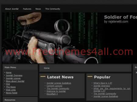 Free Joomla Soldier Of Fortune Theme Template