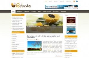 Yellow Chrome Business Wordpress Theme
