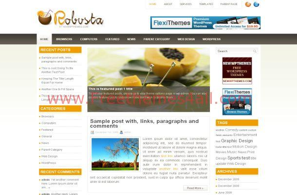 Yellow Chrome Business Wordpress Theme