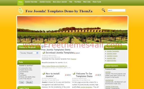 Green Nature Joomla Theme
