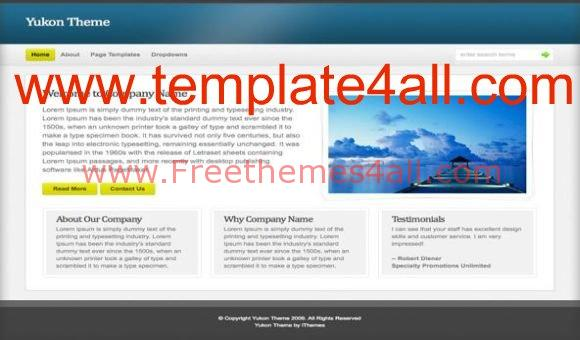 Free Yukon Blue Magazine WordPress Theme