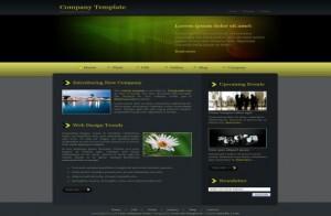 Dark Green CSS Template