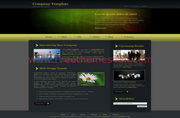 Dark Green CSS Template