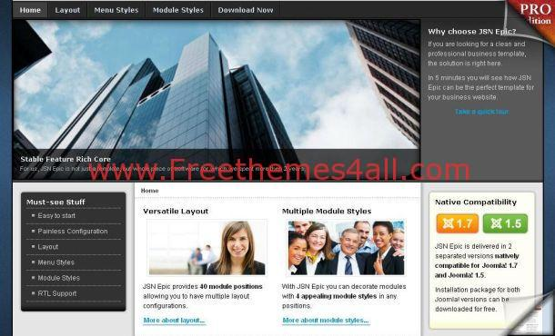 Free Jquery Gray Business Joomla Theme