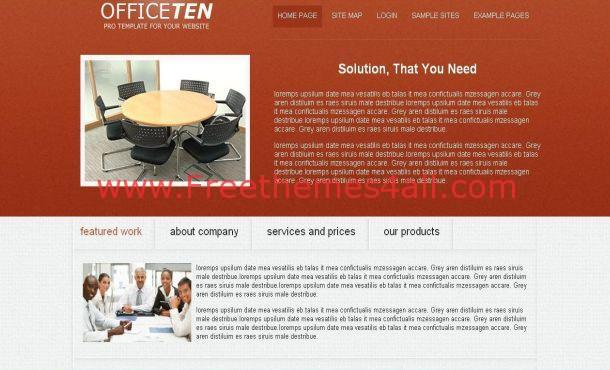 Business Office Red Free Joomla Theme