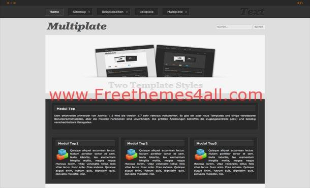 Business Black Portfolio Joomla Theme Template