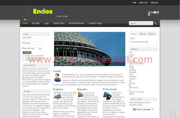 Corporate Business Portfolio Free Joomla Theme