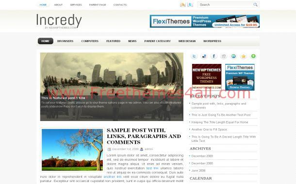 Free Jquery Business Chrome WordPress Theme