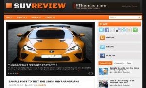 Black Orange Cars Wordpress Theme
