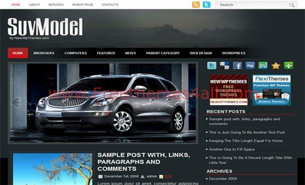 Black Cars Models Wordpress Theme