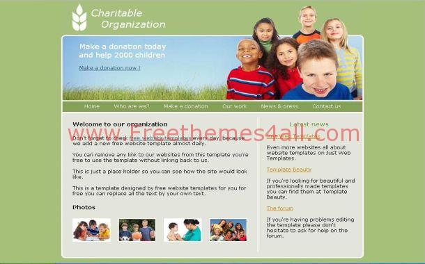 Free Green Charity Foundation Css Template