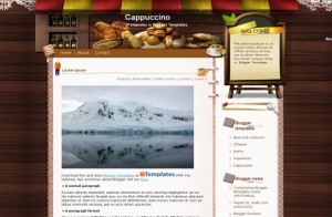 Free Blogger Coffee Theme Wooden Jquery Template