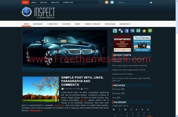 Cars Magazine Free Wordpress Theme