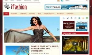 Red Sexy Fashion Free WordPress Theme
