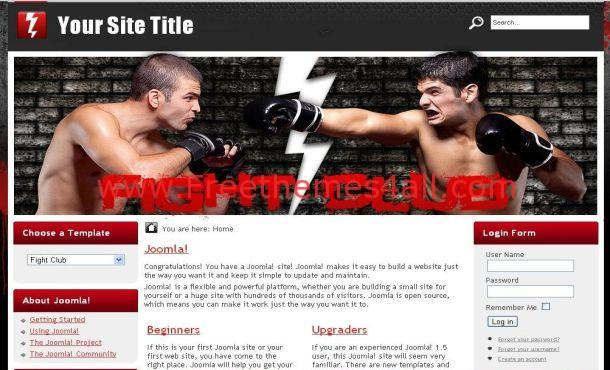 Fighting Red Free Joomla Theme