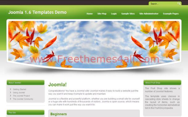 Green Flowers Joomla Theme