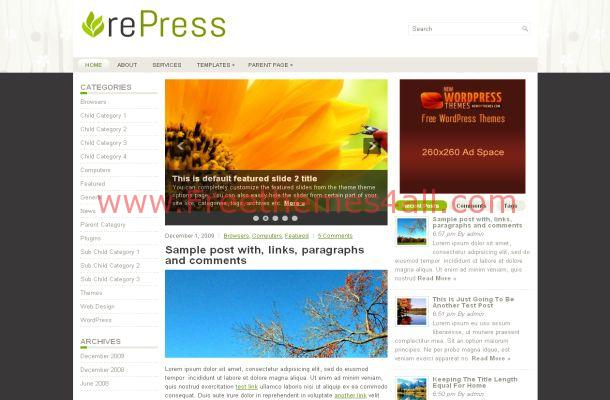 Free Fresh Wooden Small Business WordPress Theme