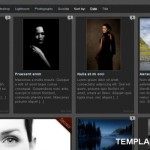 Black Gray Wordpress Gallery Theme Template