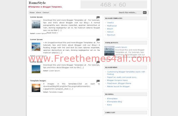 Chrome Gray News Free Blogger Theme Template