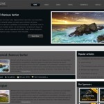 Free Photos Gallery Gray Black Wordpress Theme