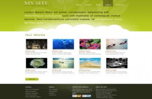 Modern Green Clouds Free CSS Template