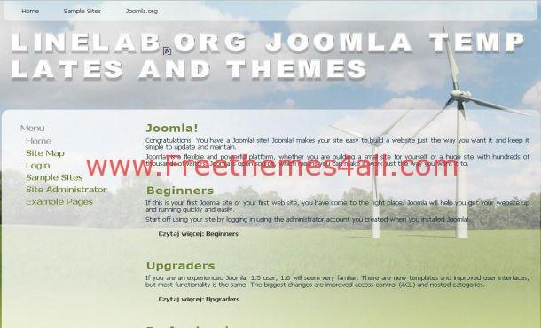 Wind Energy Joomla Flash Theme