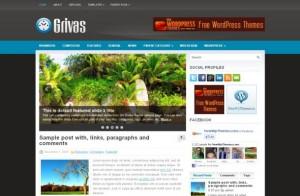 Free Business Grey Blue WordPress Theme
