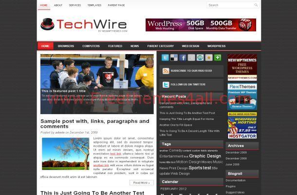 Grey News Wordpress Theme