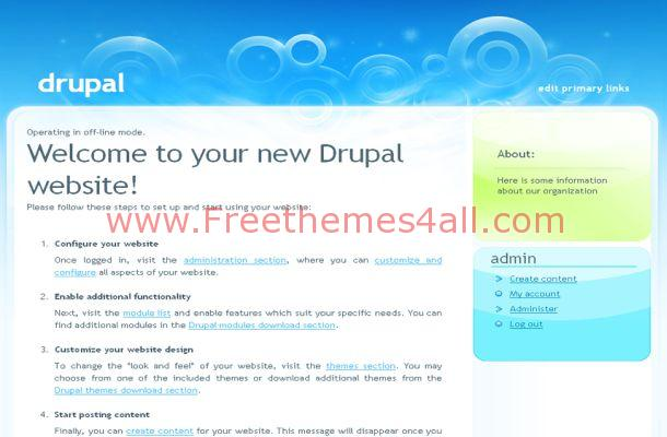 Free Drupal Green Theme Template