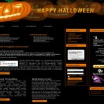 Black Brown Pumpkin Joomla Theme Template