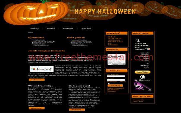Free Black Brown Pumpkin Joomla Theme Template